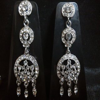 Trendy Silver drop Earrings 3