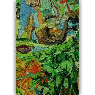 Vitalwalls - Abstract Painting  -Premium  Canvas Art Print. Abstract-033-30cm