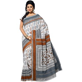 Aagaman Multicolor Cotton Printed Saree With Blouse