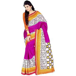 Florence Pink Bhagalpuri Silk Saree (FL-1797)