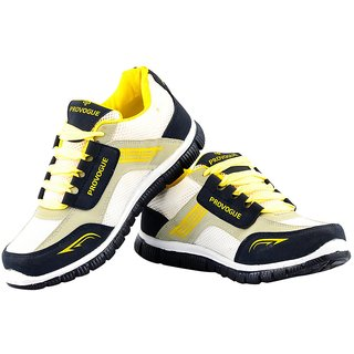 Provogue Men's Yellow & Gray Running Shoes