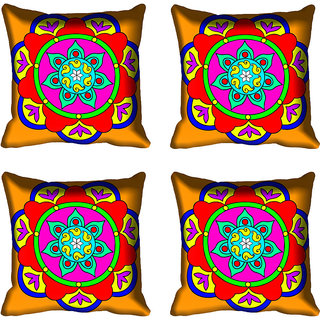 meSleep Red Digital Printed Cushion Cover 16x16