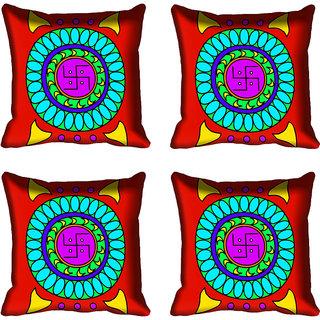 meSleep Red Digital Printed Cushion Cover 16x16