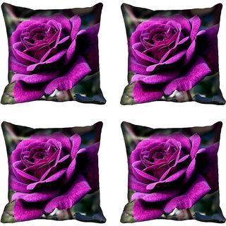 meSleep Purple Rose Digital Printed Cushion Cover 16x16