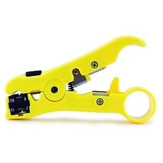 Coaxial cable cutter & wire stripper RG59 RG6 RG7 RG11 round UTP networking flat
