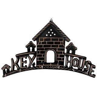 wooden key hanger/holder key house large