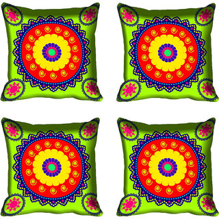 meSleep Multi Color Digital Printed Cushion Cover 16x16