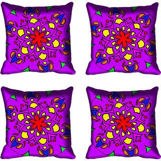 meSleep Purple Digital Printed Cushion Cover 16x16