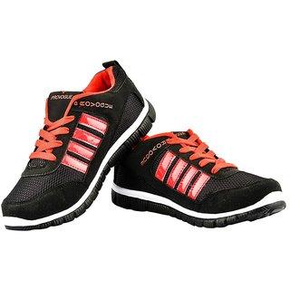 Provogue Men's Red  Black Running Shoes