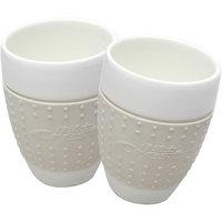 Set Of Two Silicon Grip Bone China Mugs