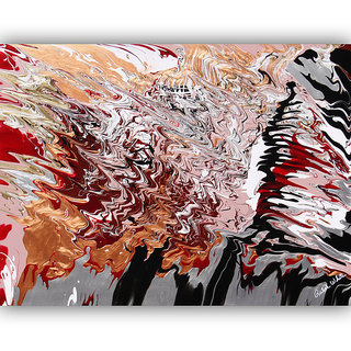 Vitalwalls Abstract Painting Premium Canvas Art Print(Abstract-029-30cm)