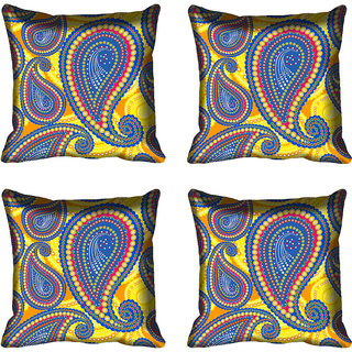 meSleep Paisely Digital Printed Cushion Cover 16x16