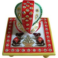 Ravishing Variety Mehrab Multicolor Marvel Kalash Chowki Ganesh  (Set of 1)