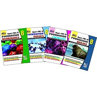 Boards + Pmt/ Iit Foundation Class 8 (Science + Maths) - Set Of 4 Books