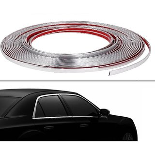 Takecare  Side Window 10 Meter Chrome Beading Roll For Tata Indica Vista