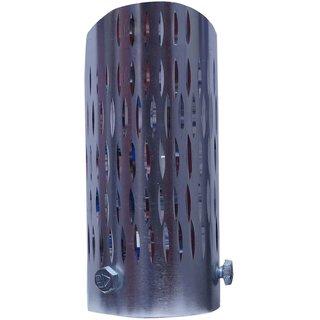 Takecare Medium Silver Iron Silencer Muffler Tip Pipe For Skoda Foctavia