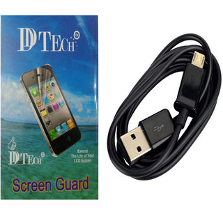 Dtech Screen Guard For Micromax Canvas 2 colour A120