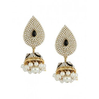 Dg Jewels Pearl Earrings-ER053BK