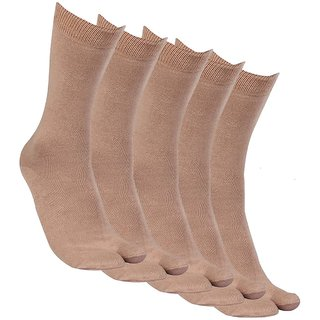 Alfa Ladies Super Thumb Fawn Color Socks (Pack of 5)