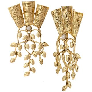 The Jewelbox 18K Gold Plated Wild Floral Large Statement Earring For Women