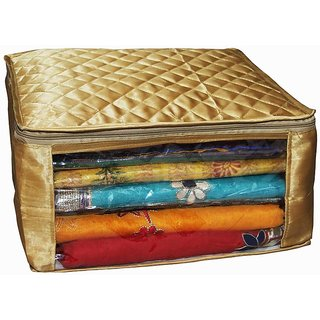 Kuber Inustries Saree Cover In Large Size In Golden Satin