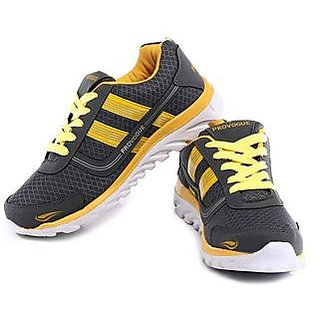 Provogue Men's Yellow  Gray Running Shoes
