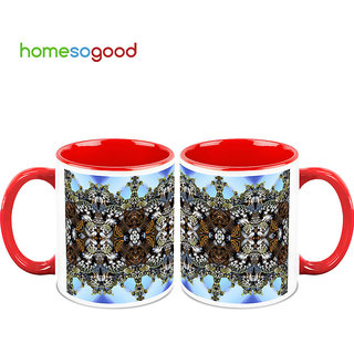 HomeSoGood Pathway To Heaven Coffee Mugs (2 Mugs) (HOMESGMUG729-A)