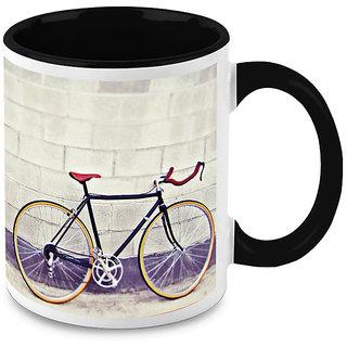 HomeSoGood Parked Bicycle Coffee Mug (HOMESGMUG1653)