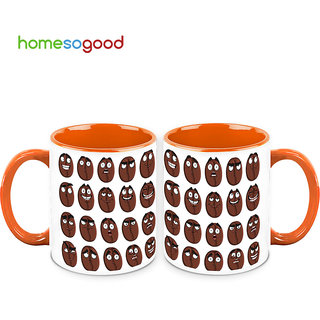 HomeSoGood The Coffee Beans Expressions Coffee Mugs (2 Mugs) (HOMESGMUG487-A)