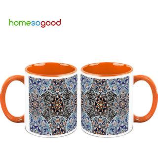 HomeSoGood Surrounded By Bubbles Coffee Mugs (2 Mugs) (HOMESGMUG698-A)