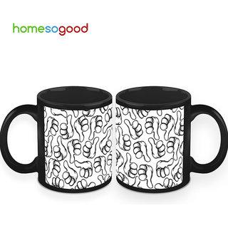 HomeSoGood Thumbs Up To Coffee Mugs (2 Mugs) (HOMESGMUG421-A)
