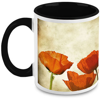 HomeSoGood Lovely Flowers Coffee Mug (HOMESGMUG1648)