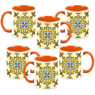 HomeSoGood Spanish Culture Backgrounds Coffee Mugs(6 Mugs) (HOMESGMUG1237-B)