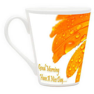 HomeSoGood Have A Wonderful Day Latte Coffee Mug (HOMESGMUG1730)