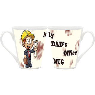 HomeSoGood Mug For Dad's Office Latte Coffee Mugs (2 Mugs) (HOMESGMUG1818-A)