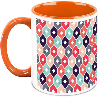 HomeSoGood Random Colorful Patterns Coffee Mug (HOMESGMUG1688)