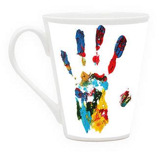 HomeSoGood Palm Full Of Colors Latte Coffee Mug (HOMESGMUG1865)