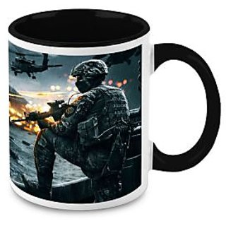 HomeSoGood Fighting Warrior Coffee Mug (HOMESGMUG1641)