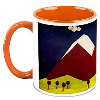 HomeSoGood Painting Of A Mountain Coffee Mug (HOMESGMUG1673)