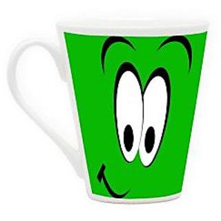 HomeSoGood Very Surprised Latte Coffee Mug (HOMESGMUG1716)