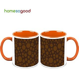 HomeSoGood Infinite Bubbles Coffee Mugs (2 Mugs) (HOMESGMUG499-A)