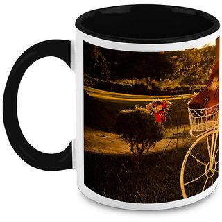 HomeSoGood Bicycle In Park Coffee Mug (HOMESGMUG1645)