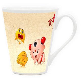 HomeSoGood Its Fun Time Latte Coffee Mug (HOMESGMUG1714)