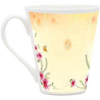 HomeSoGood Design On A Mat Latte Coffee Mug (HOMESGMUG1741)