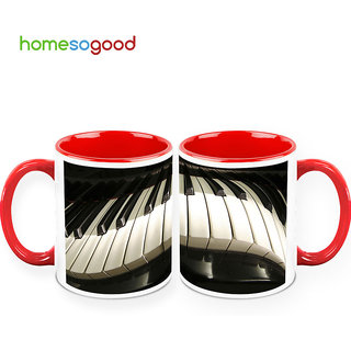 HomeSoGood Ultimate Piano Coffee Mugs (2 Mugs) (HOMESGMUG401-A)