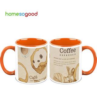 HomeSoGood A Coffee Everyday Coffee Mugs (2 Mugs) (HOMESGMUG493-A)