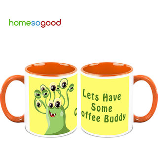 HomeSoGood Lets Have Coffee Buddy Coffee Mugs (2 Mugs) (HOMESGMUG712-A)