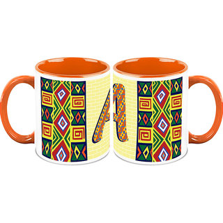 HomeSoGood Alphabet A Design Pattern Coffee Mugs (2 Mugs) (HOMESGMUG1434-A)