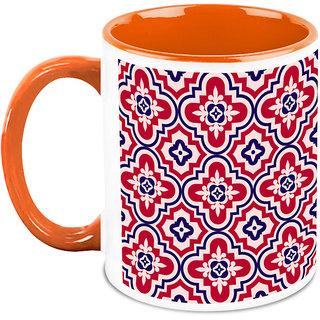 HomeSoGood Red Abstract Design Coffee Mug (HOMESGMUG1664)