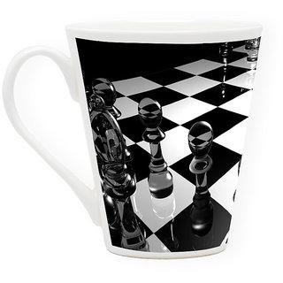 HomeSoGood Crystal Chess Dices Latte Coffee Mug (HOMESGMUG1722)